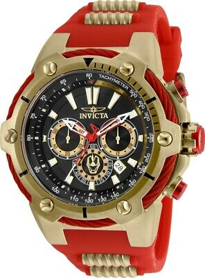 Invicta 25684 Marvel Men's 53mm Chronograph Gold-Tone Black Dial Watch