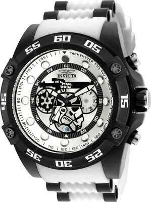 Invicta 26068 Star Wars Men's 52mm Chronograph Black-Tone White Dial Watch