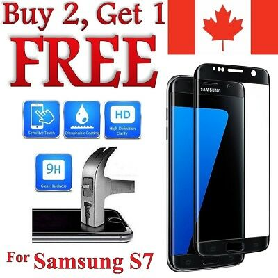 Premium 3D Curved Tempered Glass Screen Protector for Samsung Galaxy S7