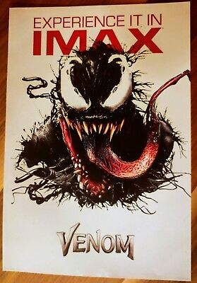 "VENOM Official Movie 13"" x 19"" PREMIERE NIGHT IMAX Poster Marvel"