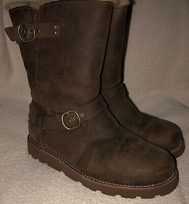 e10b69af874 CLASSIC AUTHENTIC UGG Australia NOIRA Brownstone Brown Leather Boots Size 8  EUC