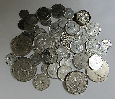 268.45 Grams of Foreign Silver World Coins