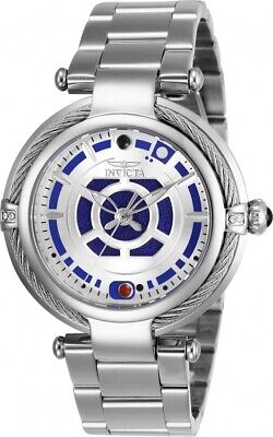 Invicta 26234 Star Wars R2-D2 Women's 40mm Stainless Steel Silver Dial Watch