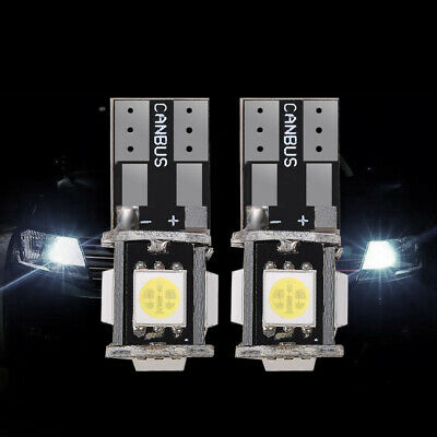 6X T10 Led Canbus Error Free 5 SMD Car Side Wedge light Bulb White 168 194 W5W