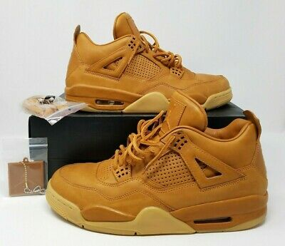 8c494e04a90a Air Jordan 4 IV Retro Premium Wheat Ginger Gum Yellow 819139-205 Size 11.5
