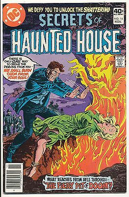 "DC Comics Secrets of Haunted House #18 ""Fiery Pit of Doom"" Fine+ (HX60)"