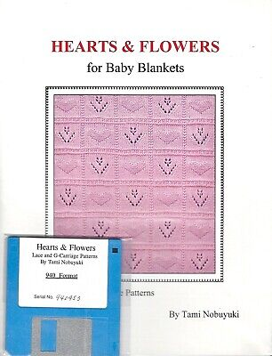 HEARTS & FLOWERS for BABY BLANKETS w/ 940 Brother Disk - byTami Nobuyuki