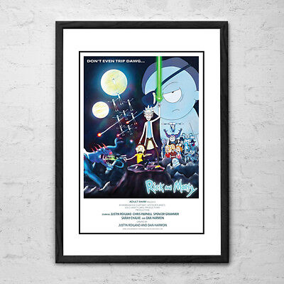 FRAMED Rick and Morty Posters - There are 2 different Posters to choose from!