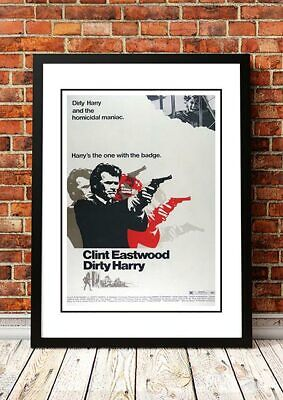 DIRTY HARRY 'Clint Eastwood' Movie Poster 1972 - Available Framed or Unframed