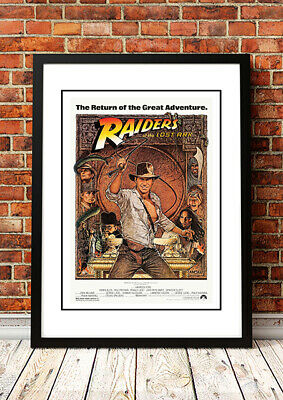 RAIDERS OF THE LOST ARK Movie Poster 1981 - Available Framed or Unframed