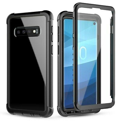 360° Protection Full-body Rugged Clear Bumper Case Cover for Samsung Galaxy S10