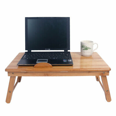Surprising Portable Laptop Desk Folding Lap Tray Bed Adjustable Table Stand Bamboo Color Ca Interior Design Ideas Truasarkarijobsexamcom