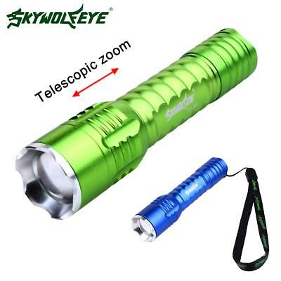 Skywolfeye 3000Lm Zoomable  LED Flashlight Torch Super Bright Light 18650 BE