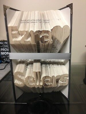 Folded Book Art. 2 Names. Forename/surname. forename/Middle Name. His And Hers.