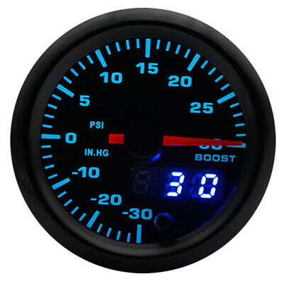 """2"""" 52mm Universal 7 Colors LED Car Auto Turbo Boost Gauge PSI Meter With Sensor"""