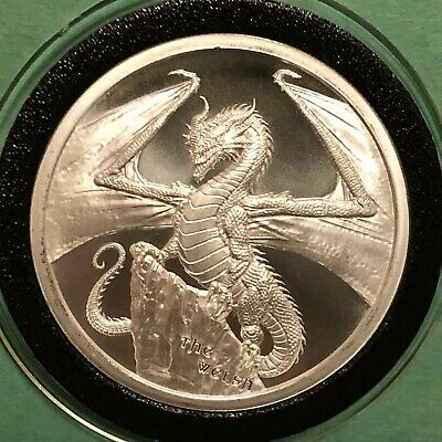The Welsh Dragon Eye 1 Troy Oz .999 Fine Silver Round Collectible Coin Medal 999