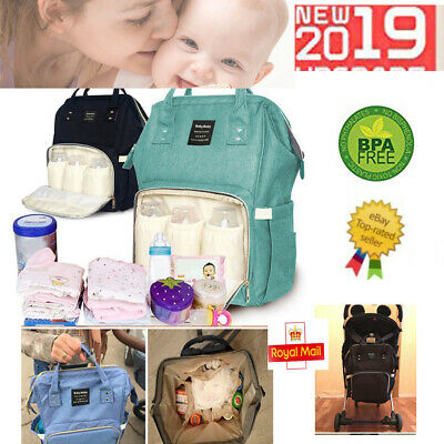 Luxury Multifunctional Baby Diaper Nappy Backpack Waterproof Mummy Changing Bags