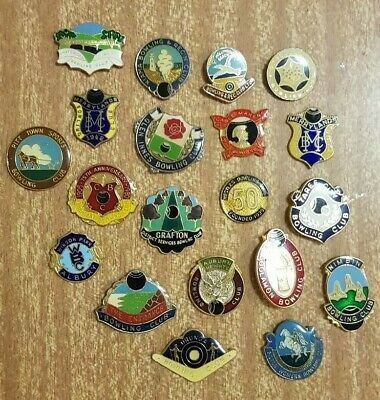 20x Bowls Badges **CLASPS REMOVED**
