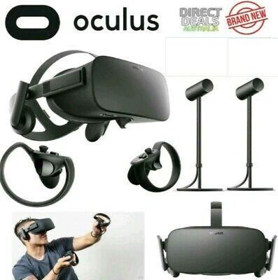 Oculus Rift VR Virtual Reality System Inc. Controllers + 2 Sensors + 6 Games NEW