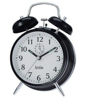 Acctim 12623 Saxon Black Alarm Clock