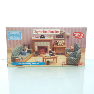Sylvanian Families VICTORIAN LIVING ROOM SET FLAIR 4236 UK Epoch Calico  Critters