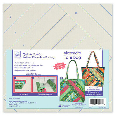 June Tailor JT-1477 Quilt As/Go Alexandra Tote Bag