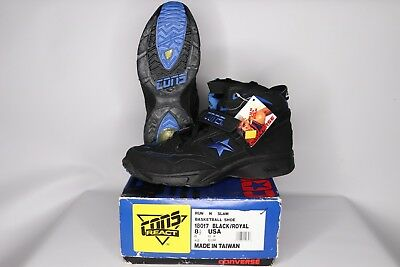 9fd11e90b7d Vtg 90s New Converse Mens 8.5 Kevin Johnson Run N Slam Cons React Shoes  Black