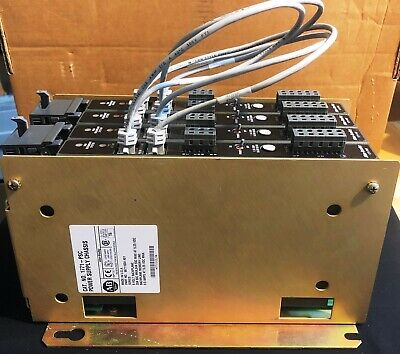 ALLEN BRADLEY POWER SUPPLY CHASSIS  1771-PSC 96711604 A01 w/ 4x 1771-P6R/C