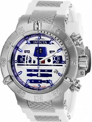 Invicta 26240 Star Wars Men's 50mm Chronograph Stainless Steel Silver Dial Watch
