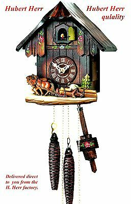 Hubert Herr,  Black Forest  farm house style 1 day weight driven cuckoo clock.