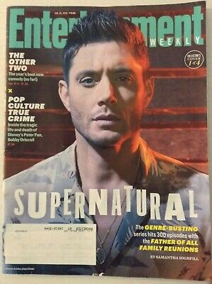 Entertainment Weekly Magazine Supernatural January 15, 2019  022219nonrh