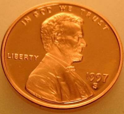1997-S Lincoln Memorial Cent Proof Red Penny