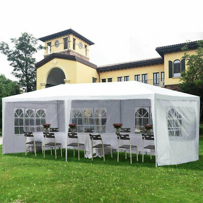 3M X 6M White Garden Gazebo Tent Marquee Outdoor Waterproof Canopy Party Wedding