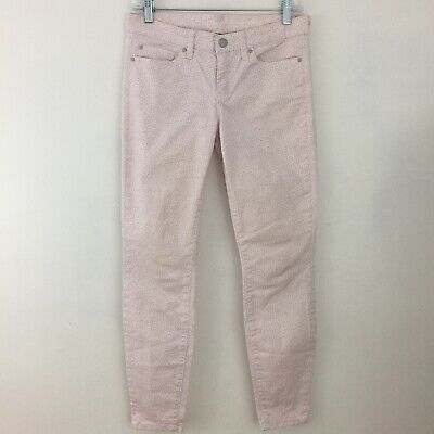 2a36834e9c25a GAP LEGGING SKIMMER Jeans Size 2 or 26A White Pink Dots Skinny Pants ...