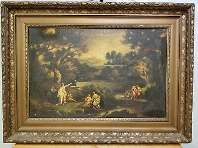 Mid 19th Century Oil Painting After Friedrich Preller the Elder-RUSSIAN?