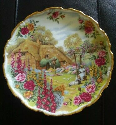 Royal Albert Tranquil Garden by Artist Fred Errill Signature Plate