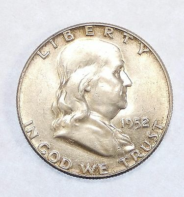 1952 Franklin Half Dollar  ALMOST UNCIRCULATED Silver 50-Cents