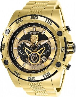 Invicta 26805 Marvel Men's 52mm Chronograph Gold-Tone Gold/Black Dial Watch