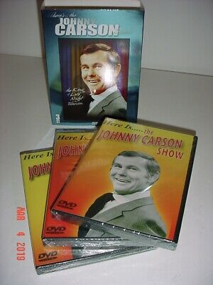 Here's The Johnny Carson Show The King Of Late Night Television 3 Dvd Set - New