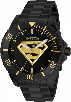 Invicta 26897 DC Comics Superman Men's 47mm Automatic Black-Tone Steel Watch