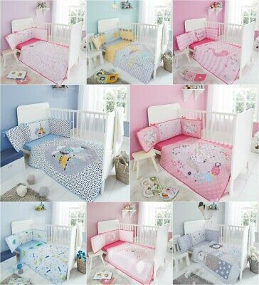 Nursery Baby 3pc Bumper Coverlet & Fitted Sheet Super Soft Cosy Full Cot Bed Set