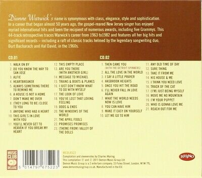 Dionne Warwick - Ultimate Collection 2 Cd New!
