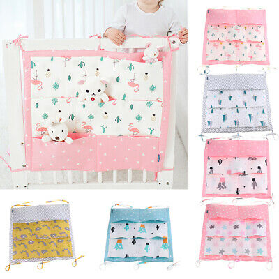 9 Pockets Baby Kids Crib Nursery Organizer Cot Storage Bag Tidy Diaper Stacker