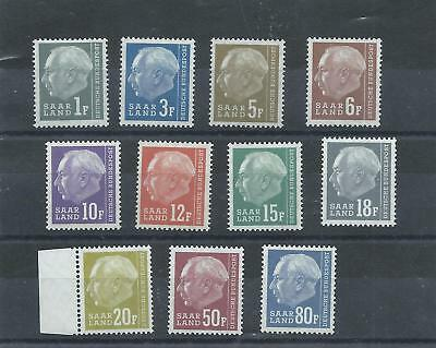 Saar Germany stamps. 1957 President Heuss lot MNH. Complete to 20f plus   (D967)