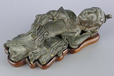 19th Century or Earlier Chinese Bronze Brush Rest Scholar Work Of Art