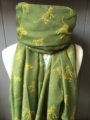 Amazon Tiger Green Animal Scarf Sister Present Mothers Day Gift Friend Mum