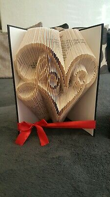 Folded Book Art. Book Fold. Heart With Love Inside. Wedding. Valentine's gift