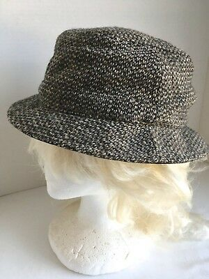 4005127e7ecce L L Bean Men s M Harris Tweed Gore-Tex Bucket Hat 100% Wool Lined Fleece