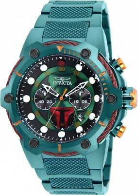 Invicta 27113 Star Wars Men's 51.5mm Chronograph Green-Tone Steel Green Dial