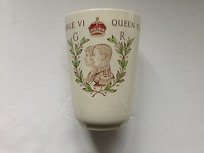 Wedgwood Commemorative Beaker for George V's 1937 Coronation